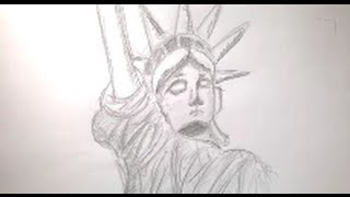 How To Draw The Statue Of Liberty | KG-Draws