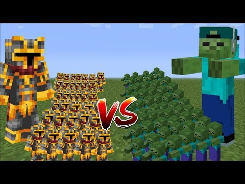 Minecraft 1000 ZOMBIES VS 1000 MC NAVEED BATTLE / WAR BATTLES WITH MINI SOLDIERS!! Minecraft