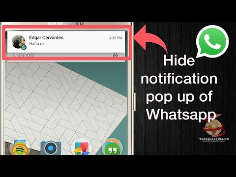 [4k] How to Hide Only WhatsApp Popup Notification