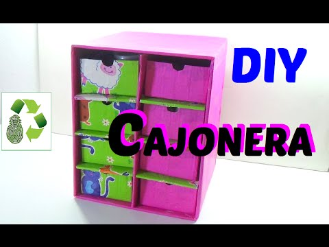 43 como hacer cajonera organizador reciclaje ecobrisa - Como hacer un armario de carton ...