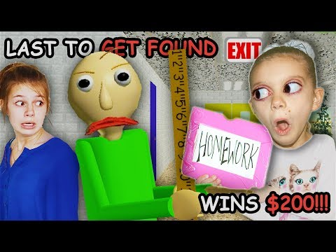 Last to Get CAUGHT Gets NO Math HomeWORK! | LAST To LEAVE Baldi's HOMESCHOOL in REAL LIFE $200!
