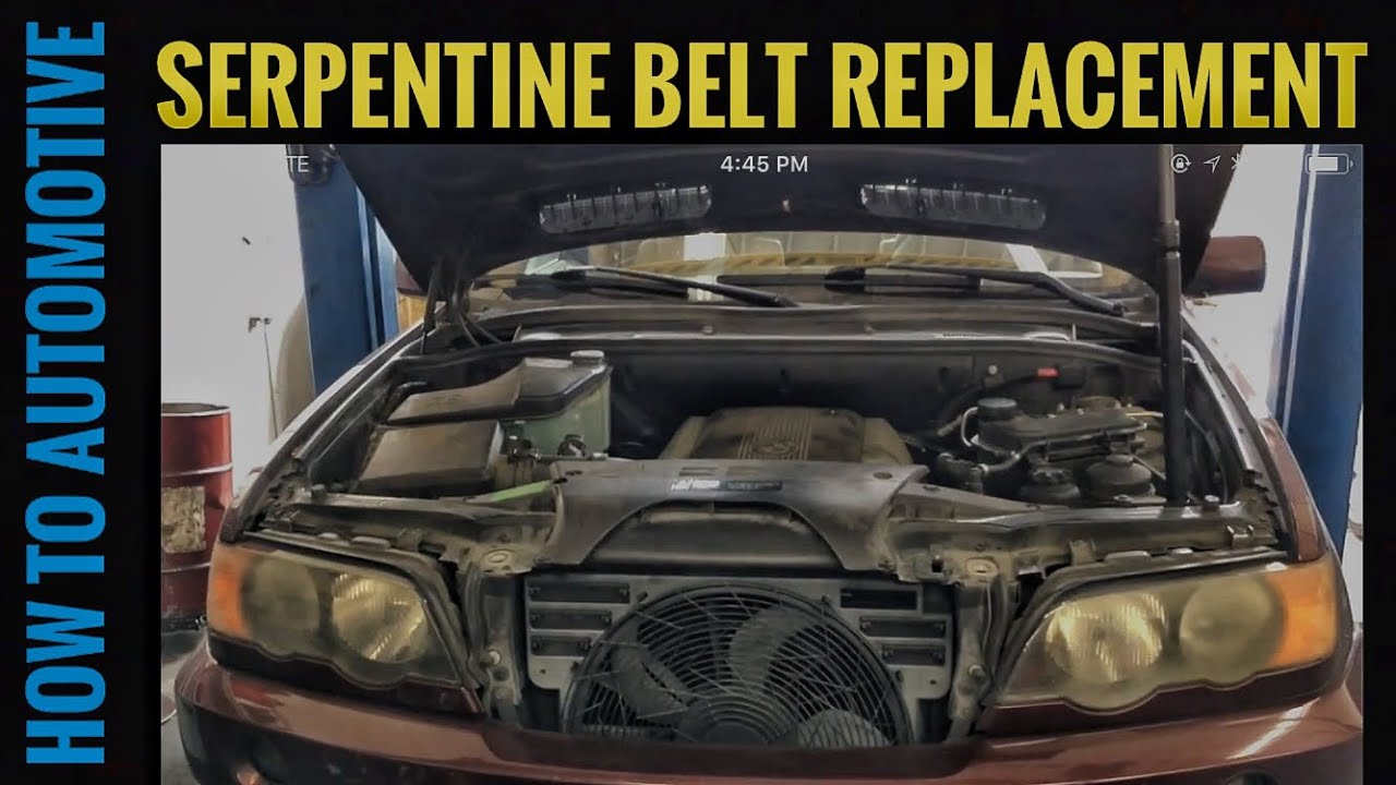 maxresdefault how to replace the drive belts on a 2001 bmw x5 with a 4 4 l