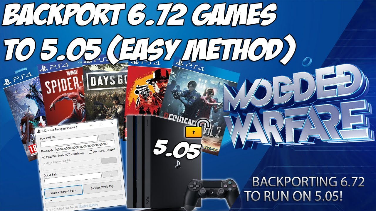 Backport 6.72 PS4 Games to 5.05 (Easy Method)