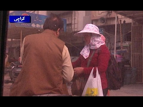 Chinese Women Selling Mobile Phones in Karachi