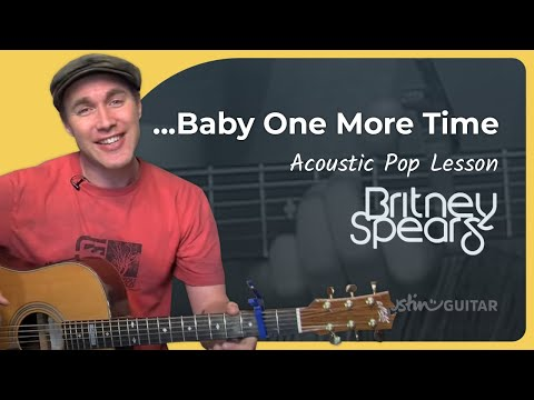 .. One More Time - Britney Spears (Easy Song Beginner Guitar Lesson BS-403) How to play