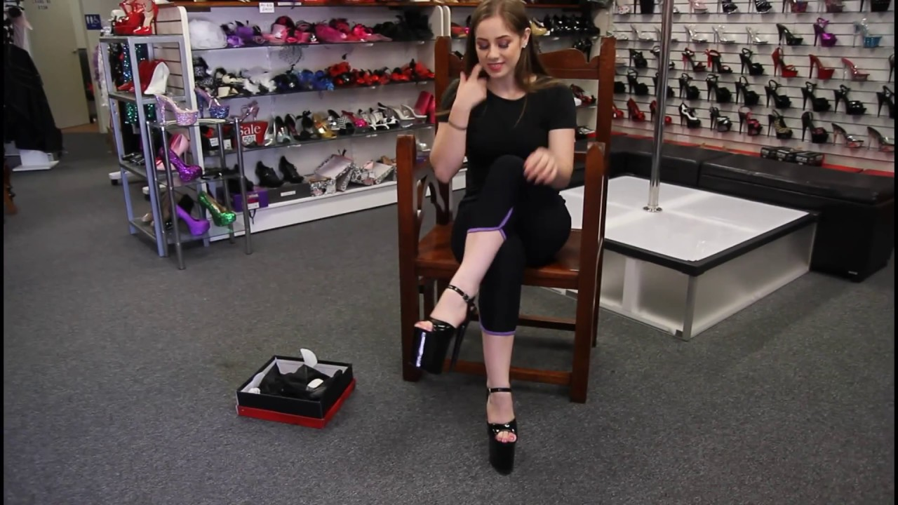 542d94d30d Review Pleaser Flamingo 809 Black Shiny 8 inch High Heels - YouTube