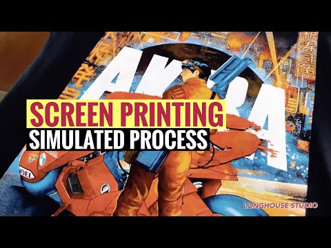Screen Printing Simulated Process