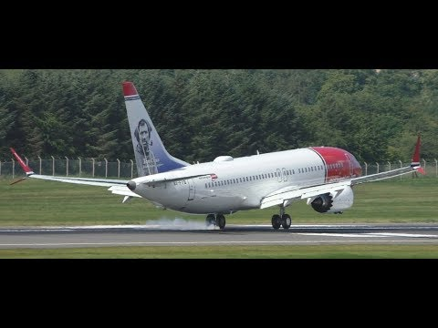 BRAND NEW Norwegian Boeing 737 MAX 8 Takeoff & Landing at Edinburgh Airport
