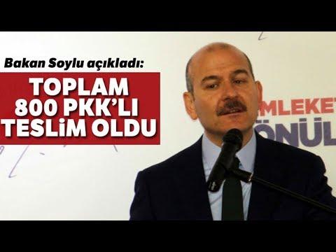 """Süleyman Soylu Açıkladı: Toplam 800 PKK'lı Teslim Oldu"""""""
