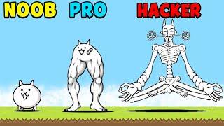 NOOB vs PRO vs HACKER  The Battle Cats