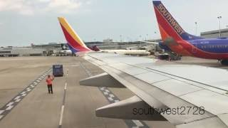 Southwest Airlines Push back,Taxi, and Takeoff Chicago Midway