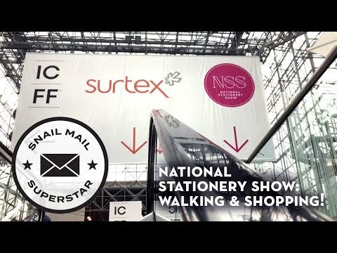 National Stationery Show: Walking & Shopping!