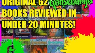 Original 62 Goosebumps Books Reviewed In Under 20 Minutes!