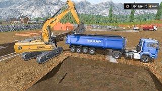 Digging foundation *timelapse* | The Buffalo Quarry | Farming Simulator 2017 | Episode 6