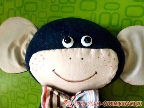 Новогодняя игрушка обезьяна своими руками