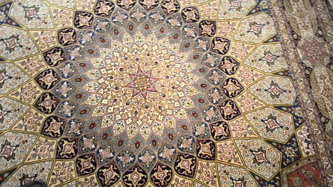 Gonbad Silk Base Tabriz Persian Area Rug 9x12 Youtube