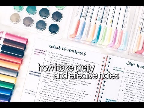 How I Take Pretty and Effective Notes || revisign