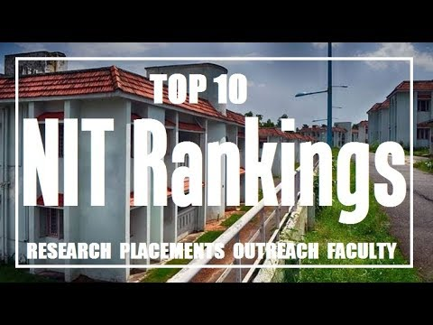 NIT Colleges Rankwise | Ranks for Placements, Faculty, Research and Outreach | Top 10