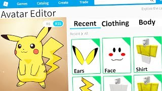 MAKING PIKACHU A ROBLOX ACCOUNT