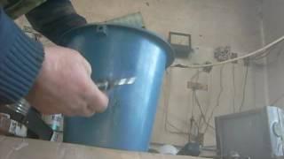 Как запаять трещину в пластиковом ведре.How to solder a crack in a plastic bucket.