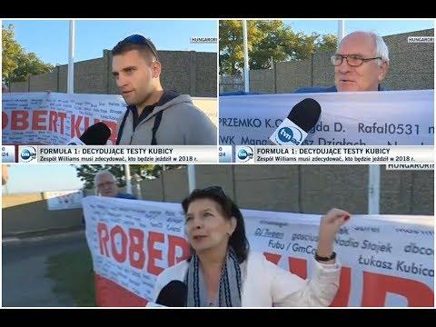 Klub Kibiców Roberta Kubicy na testach Roberta Kubicy - Hungaroring 17.10.2017