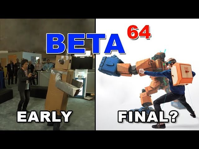 Beta64 - Project Giant Robot / Nintendo Labo (Robot Kit)??