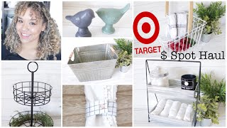 TARGET Dollar Spot Haul 2019 New FARMHOUSE Two Tiered Trays & Decor