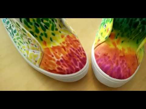 3fe94b9cfd06 Decorating canvas shoes with sharpies and alcohol - YouTube