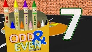 Learn Odd & Even Numbers 1 to 10 with Crayons