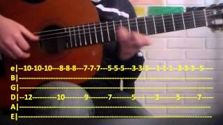 Solo Por Un Beso - Tutorial Guitarra - Aventura