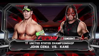 WWE 2K15 John Cena  vs Kane RAW 2015 (PS4)  HD ( For United State Championship)