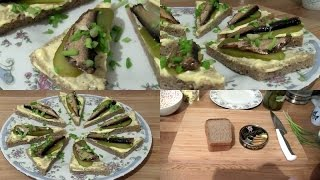 видео Бутерброды со шпротами на Новый год 2018