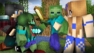 Download Zombie Life 22 : Secret Zombie Rescues a Pretty Girl- Minecraft Sad Animation Mp3 and Videos
