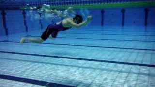 気愛水泳塾 昼間の練習 メインプールの練習会の目玉 飛び込みスタート.
