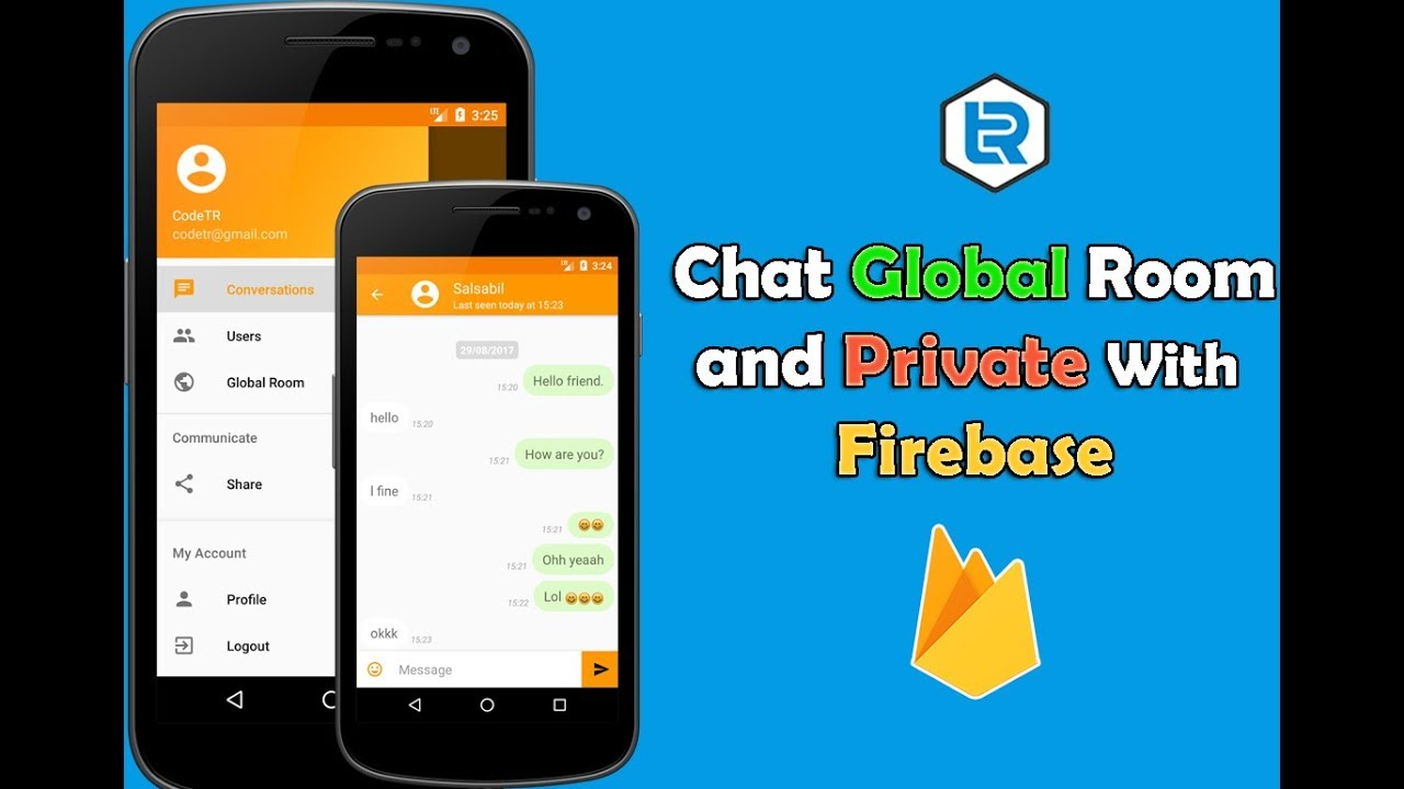 Android Studio - Chat Global Room And Private With Firebase