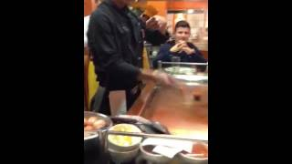 Sapporo Teppanyaki crazy chefs flip eggs