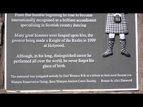Jimmy Shand Memorial East Wemyss Fife Scotland
