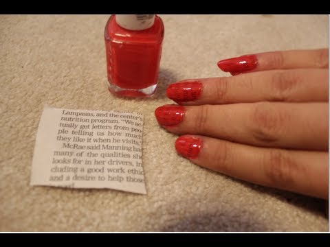 Diy newspaper nails using water youtube prinsesfo Image collections