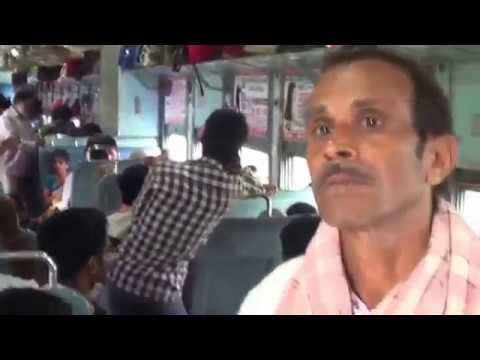 Ratnachal Superfast Express train from Vijayawada to Vizag Packing with People Andhra Pradesh India