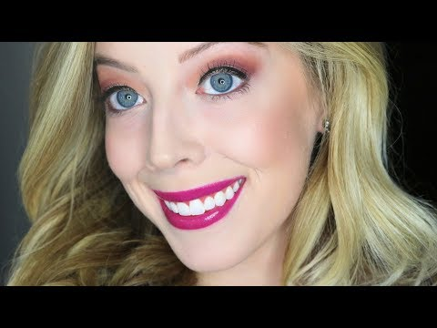 Holiday Glam - Burgundy and Gold Eye Makeup Look