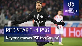 Red Star vs Paris Saint-Germain (1-4) UEFA Champions League highlights