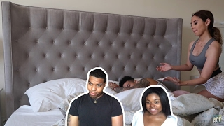 Waxing boyfriends armpit while sleeping!!! (ace family) - couples react
