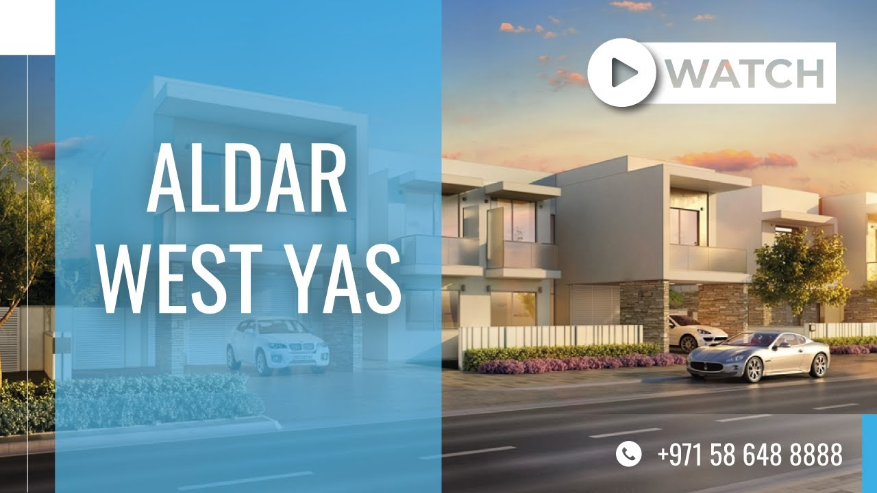 Overview of Aldar West Yas Villas at Yas Island, Abu Dhabi