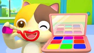 Раскрасим папу Мими и её семья Учим цвета Развивающая песенка для детей BabyBus