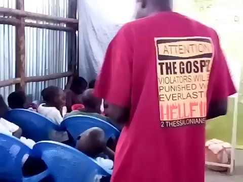 Joseph Preaching To Children WFF Kibera Slum 4 1 2018