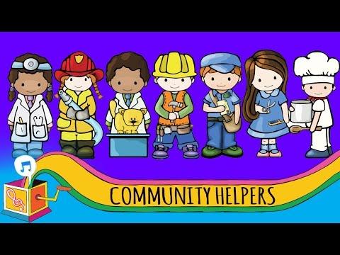 Community Helpers | Nursery Rhyme | Animated Karaoke