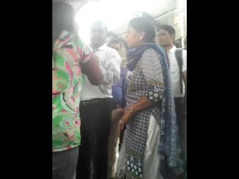 Ruckus at Rajendra place metro station