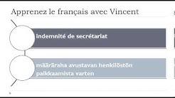 Opi ranskaa = Sanasto = vakuutuskorvaus