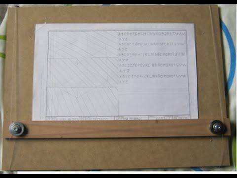 Construcci n de una mesa de dibujo youtube - Mesa de dibujo tecnico ...