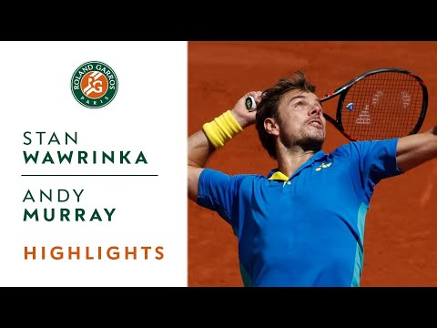 Thumbnail: Stan Wawrinka v Andy Murray Highlights - Men's Semi-Final 2017 | Roland-Garros